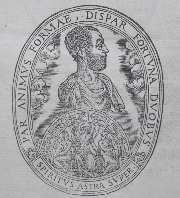 Page de titre de Vita et Metamorfoseo d'Ovidio